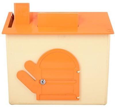 Lambas Wall Mounted Mailbox(Orange-Ivory)