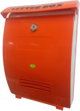 Kk Manhole Wall Mounted Mailbox (Orange)