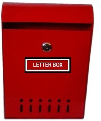 Neat Godrej Steel Modern Wall Mounted Mailbox(Red)