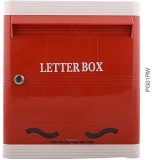 Lamba's Wall Mounted Mailbox (Red-White)