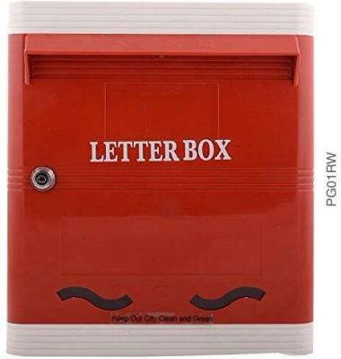 Lamba's Wall Mounted Mailbox(Red-White)
