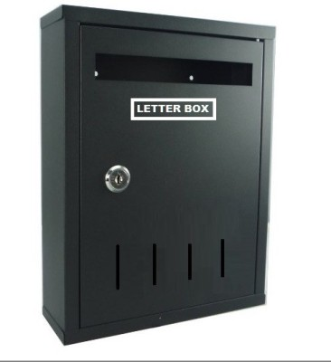 Neat Modern Home Wall Mounted Mailbox(Black)