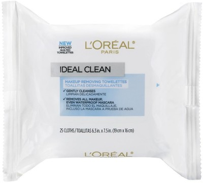 L,Oreal Paris Ideal Clean Make-Up Removing Towelettes(25 g)