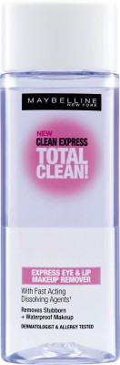 Maybelline Clean Express Total Clean Express Eye & Lip Makeup Remover(70 ml)