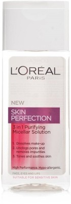 L,Oreal Paris Skin Perfection 3 In 1 Purifying Micellar Solution MakeUp Remover(200 ml)