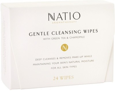 Natio Aromatherapy Gentle Cleansing Wipes,24 wipes