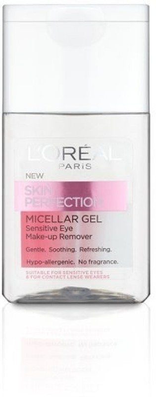 L'Oreal Paris Skin Perfection Micellar Gel Sensitive Eye Make-Up Remover Makeup Remover(125 ml)