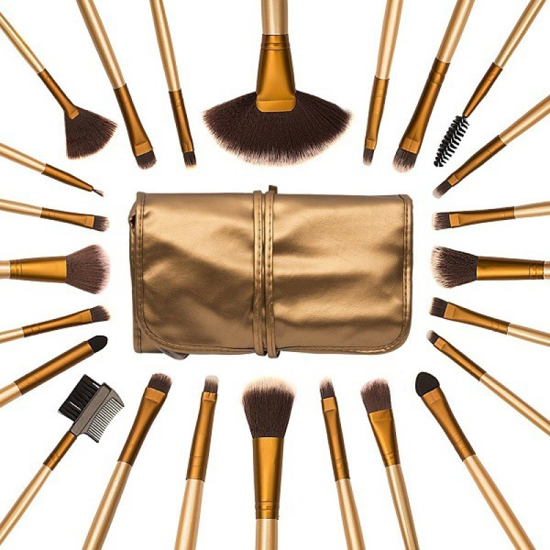 Allin Exporters Makeup Brush Organizer(Gold)