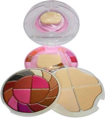 ADS ADS-12Eyeshadow::4Blusher::4CompactPowder::6LipColor::1Puff::1Mirror::Makeupkit