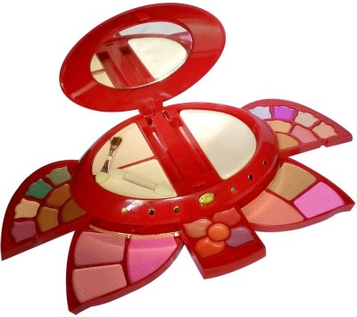 ADS ADS-14Eyeshadow::6Blusher::2CompactPowder::5LipColor::1Puff::1Mirror::Makeupkit