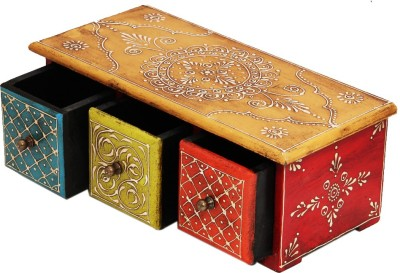 Shreeng Horizontal Embossed wooden box