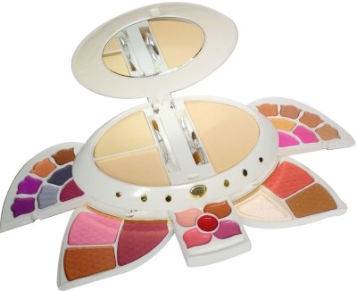 ADS ADS-14Eyeshadow::5Blusher::3CompactPowder::5LipColor::1Puff::1Mirror::Makeupkit