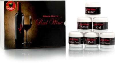 Adidev Herbals Herbal Instant Glow Black Berry Red Wine Facial Kit