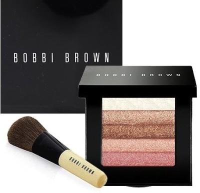 Bobbi Brown Rose Shimmer Brick Set + Blusher Brush