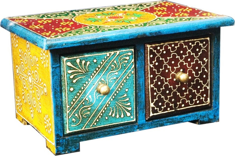 Shreeng Elegant Design Two Multicolor Drawer Vanity Wooden Box(Pack of 1)