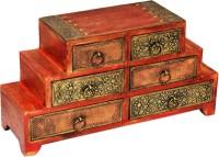 Shreeng Six drawer brass work wooden box(Pack of 1)