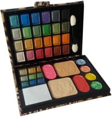 Steel Paris 24Eyeshadow::1CompactPowder::2Blusher::4Lipcolor::1Puff::1Mirror::Makeupkit