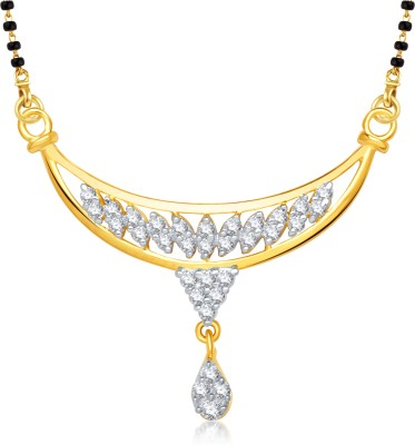VK Jewels VK Jewels Triangle Design Gold and Rhodium plated Mangalsutra Pendant Alloy Mangalsutra