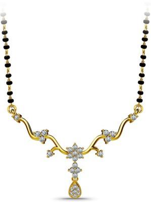 Atjewel Kumud 18kt Diamond Yellow Gold Mangalsutra Tanmaniya