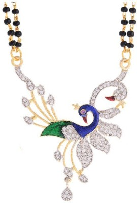 Fashion Frill AD Dancing Peacock Alloy Mangalsutra