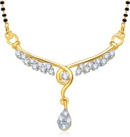 VK Jewels VK Jewels Eshnika Gold and Rhodium plated Mangalsutra Pendant Alloy Mangalsutra
