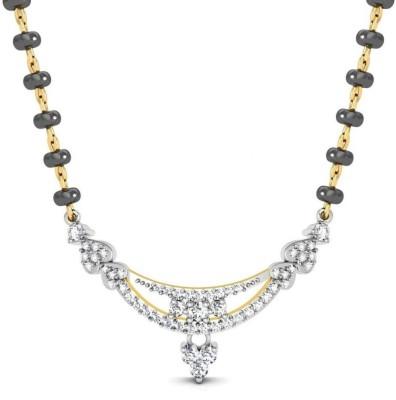 Avsar Uttrakhand 18kt Diamond Yellow Gold Mangalsutra Tanmaniya