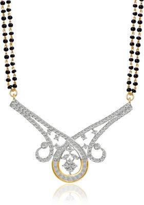 American Diamond Indian Tradition Brass, Copper Mangalsutra