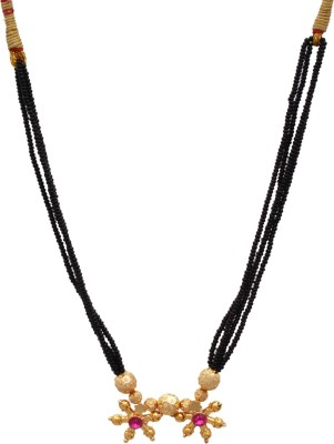 Sushito Fance Mani Two Pendent Alloy Mangalsutra