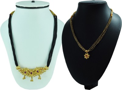 Sushito Special Kolhapuri Combo Pack of 2 Alloy Mangalsutra