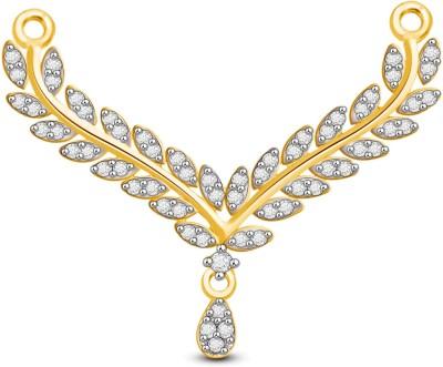 Vijisan 0.76 Ct. Leaf Style Fashion Silver Tanmaniya