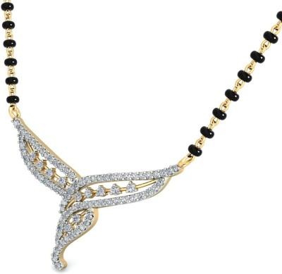 WearYourShine by PCJ The Elvira 18kt Diamond Yellow Gold Mangalsutra Tanmaniya
