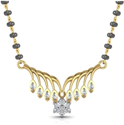 Avsar Pooja 18kt Diamond Yellow Gold Mangalsutra Tanmaniya