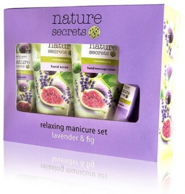 Oriflame Nature Secrets Relaxing Manicure Set Fig & Lavender