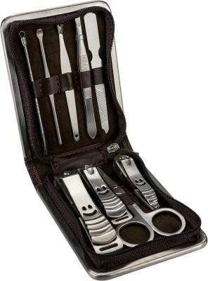 ANNI CREATIONS Elegenza Manicure Brown Checkeredset
