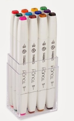 Shinhan Touch Twin Brush Tip, Chisel Tip Permanent Permanent Markers