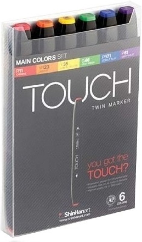 Shinhan Touch Non Permanent Markers(Set of 6)