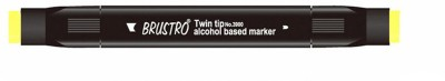 Brustro Double Sided Round Tip, Broad Tip Alcohol Based Permanent Markers