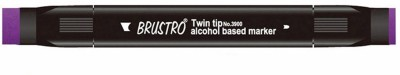 Brustro Double Sided Round Tip, Broad Tip Alcohol Based Permanent Markers(Set of 1, Violet)