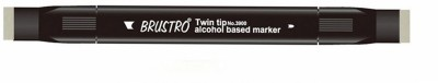 Brustro Double Sided Round Tip, Broad Tip Alcohol Based Permanent Markers(Set of 1, Grey)