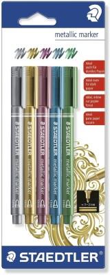 Staedtler Metallic Bullet Tip Non Permanent Coloring Markers