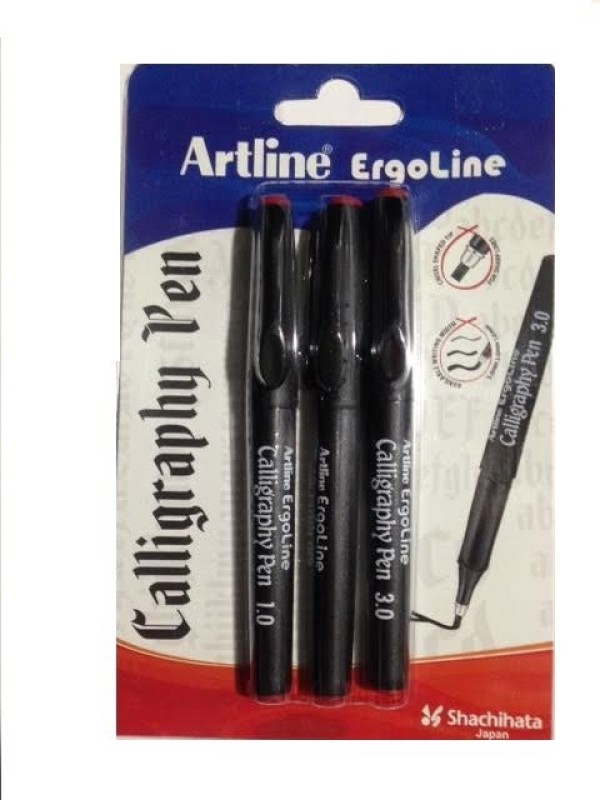 Artline Calligraphy Pen Clip(Pack of 3, Red)