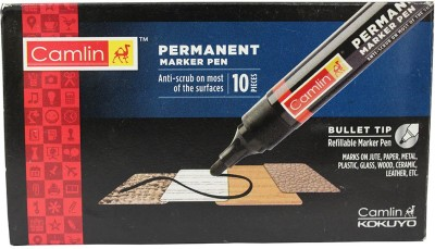Camlin Round Tip Permanent Marker Pen 10pc