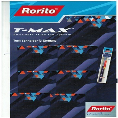 RORITO T MAX BLUE PACK OF 20 PCS 10 ml Marker Refill(Blue)