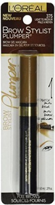 LOreal Paris Brow Stylist Plumper Brow Mascara Light To Medium Pack Of 2) 8.1 ml