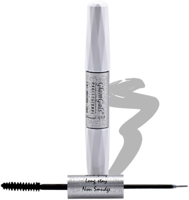 GlamGals 2 in 1-Black Mascara + Silver Liner 10 ml(Black)