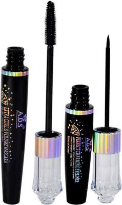 ADS 2IN1 Mascara Eyeliner 18 ml(Black)