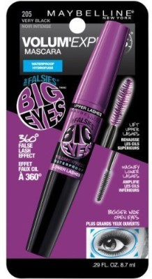 Maybeline New York Volum Express Falsies Big swaterproof Mascara Very Black Pack Of 3) 8.7 ml