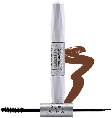GlamGals 2 in 1-Black Mascara + Brown Liner 10 ml(Black)
