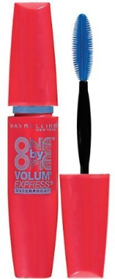 Maybeline New York Volum Express One By One Waterproof Mascara Blackest Black 9 ml