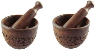Onlineshoppee Hand Carved Okhli Wooden Masher